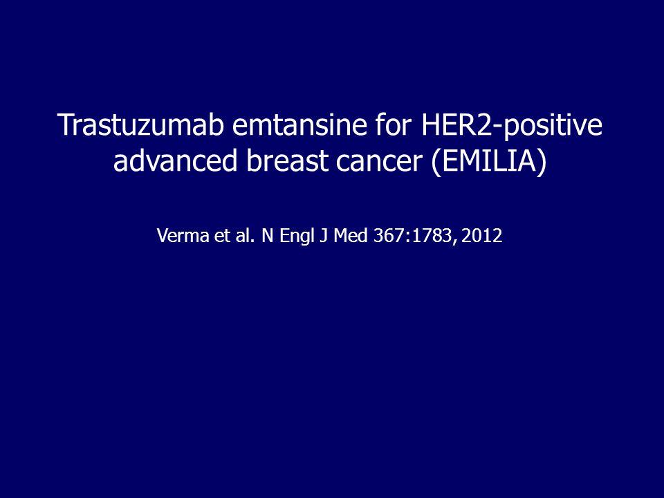 Trastuzumab emtansine for HER2-positive advanced breast cancer (EMILIA)