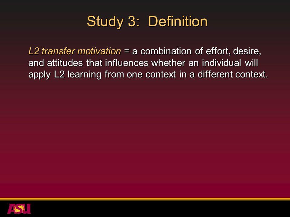 Study 3: Definition