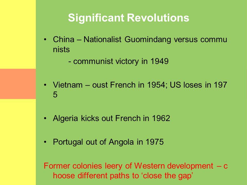 Significant Revolutions