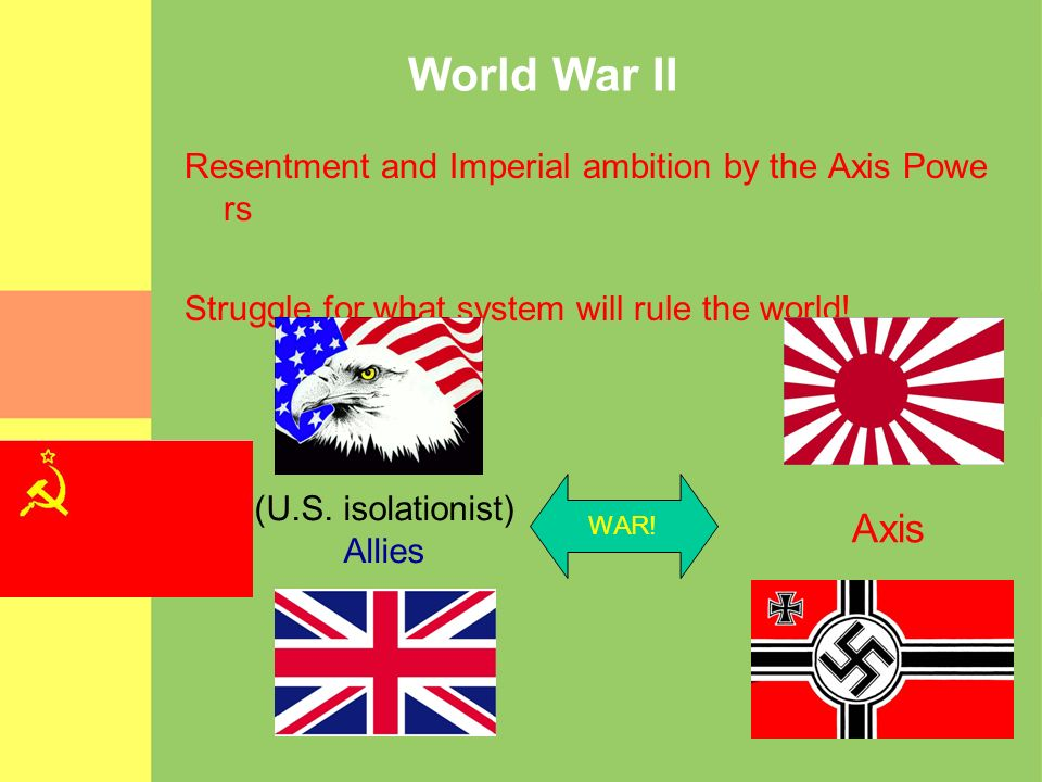 World War II Axis Resentment and Imperial ambition by the Axis Powers