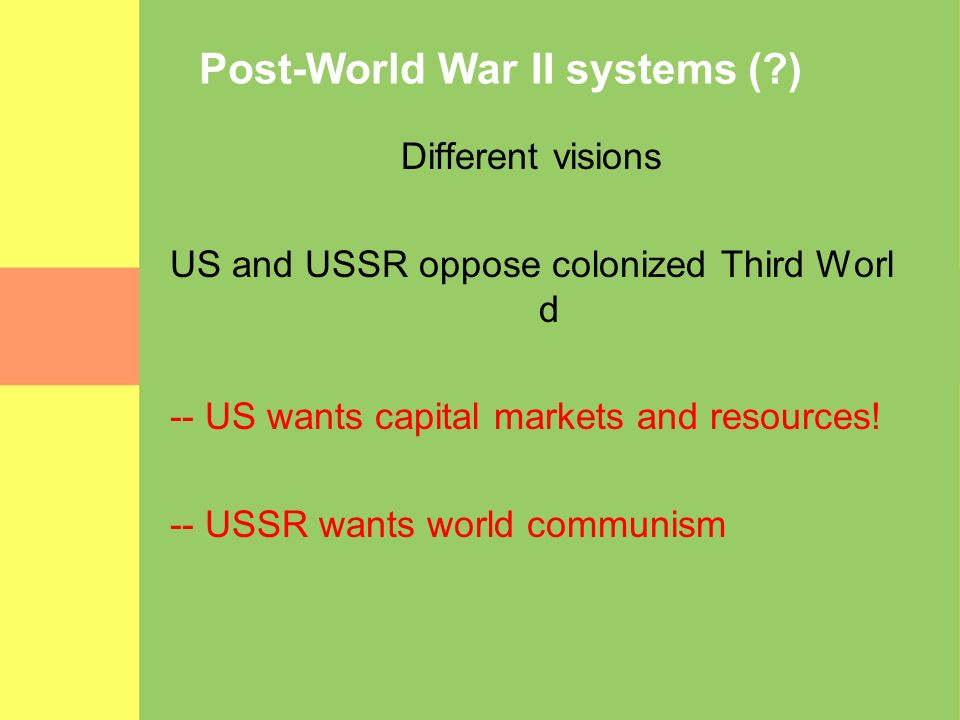 Post-World War II systems ( )