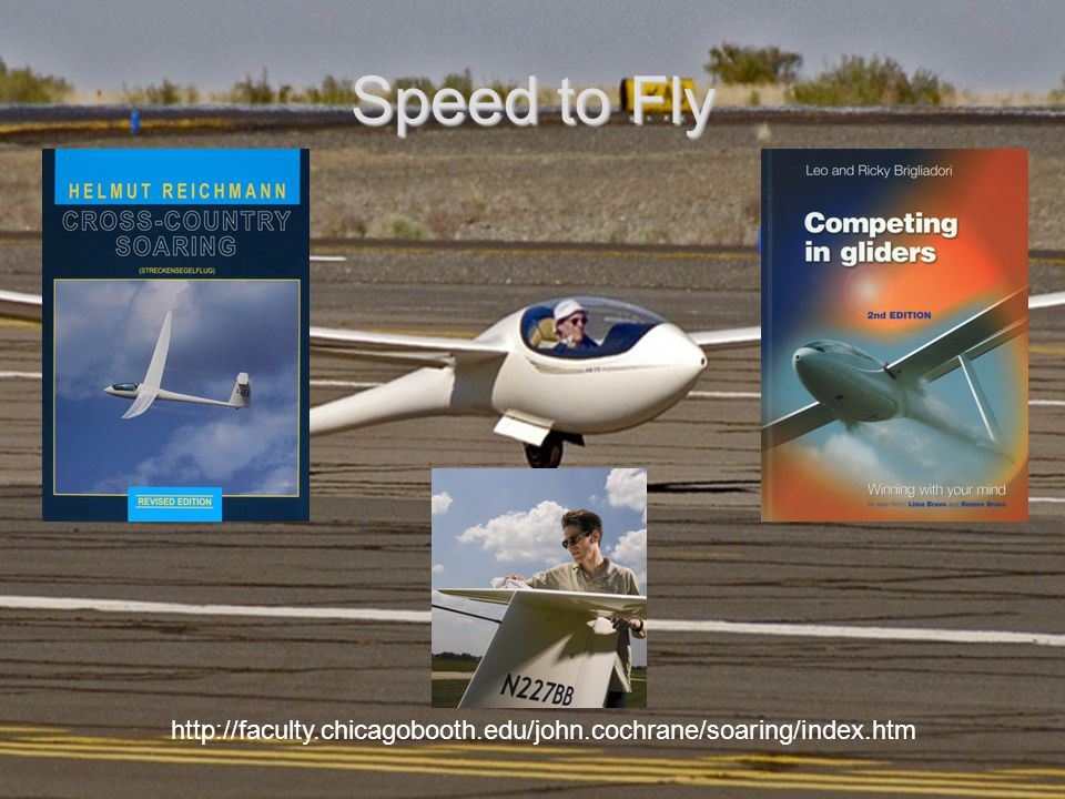 Speed to Fly http://faculty.chicagobooth.edu/john.cochrane/soaring/index.htm