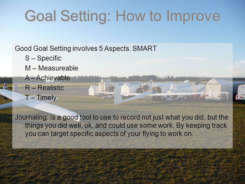 Goal Setting: How to Improve