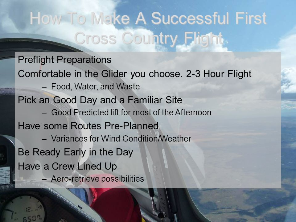 How To Make A Successful First Cross Country Flight