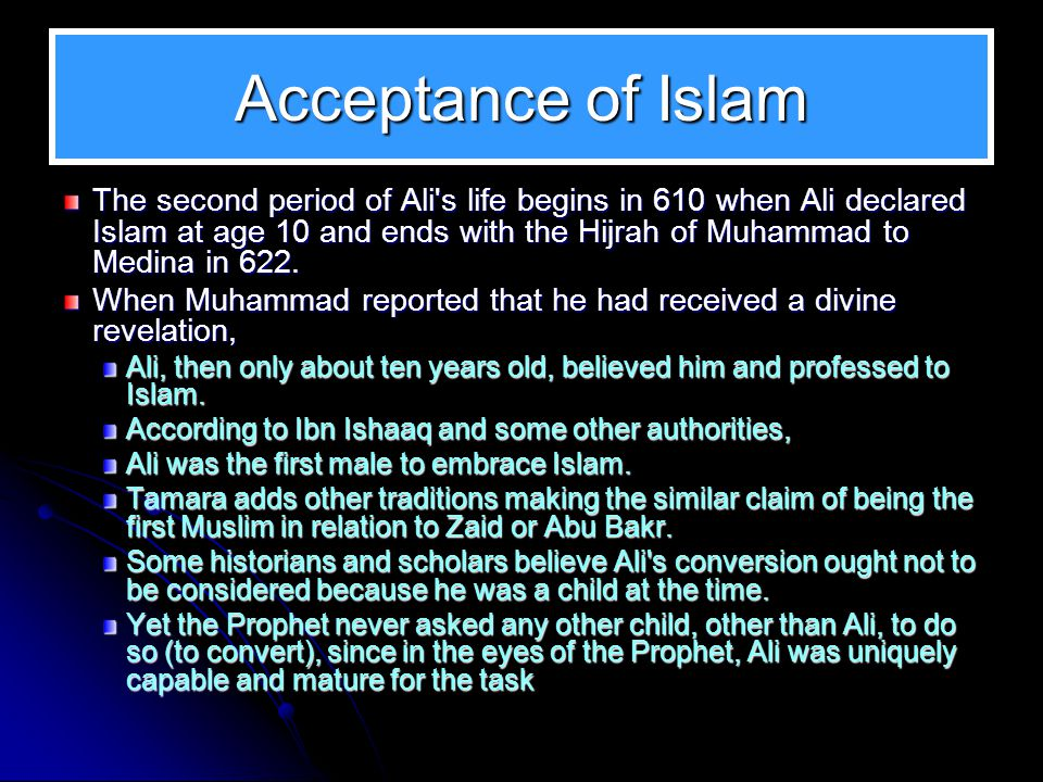 Acceptance of Islam