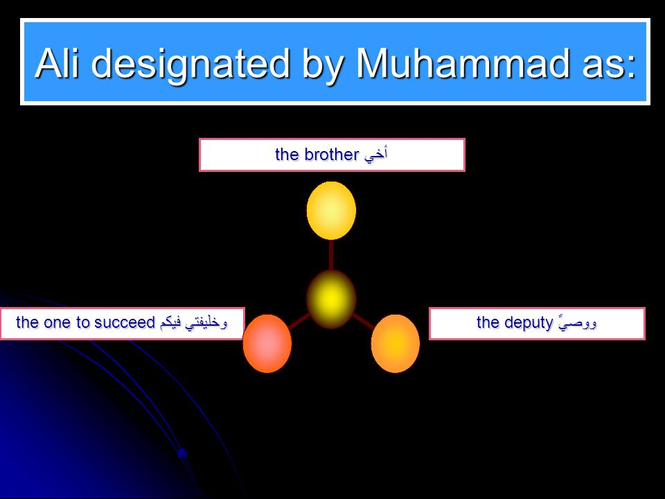 Ali designated by Muhammad as: