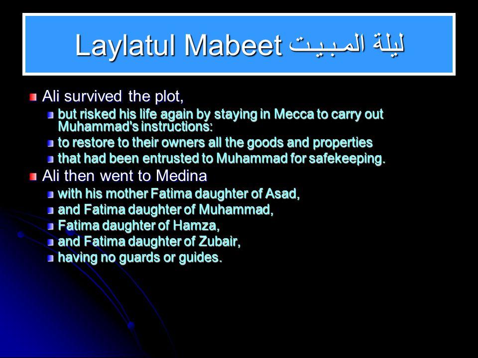 Laylatul Mabeet ليلة المـبـيـت