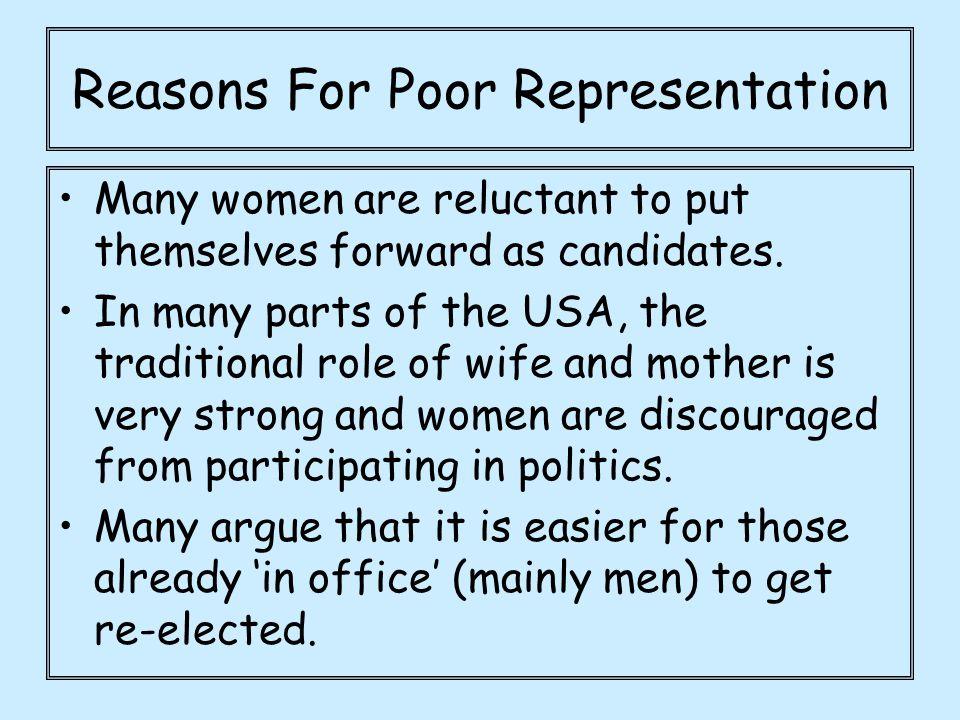 Reasons For Poor Representation
