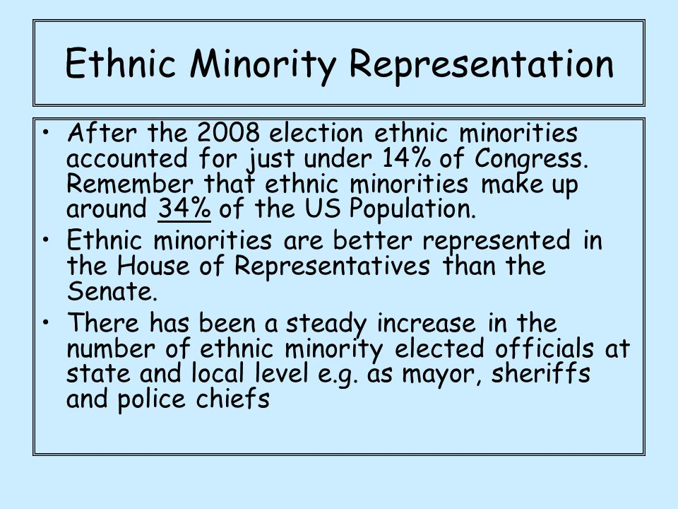 Ethnic Minority Representation