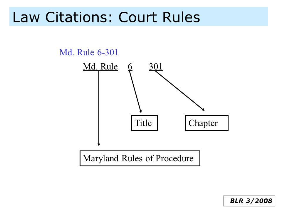 Law Citations: Court Rules