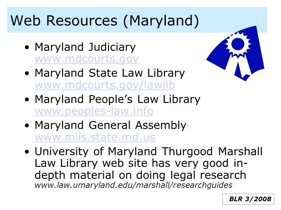 Web Resources (Maryland)
