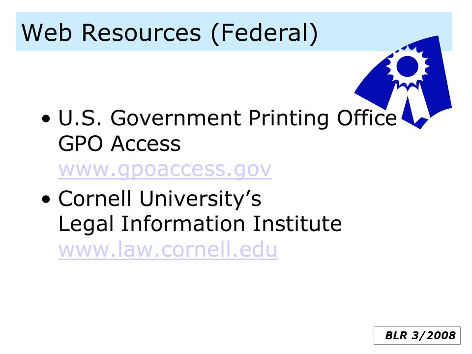 Web Resources (Federal)