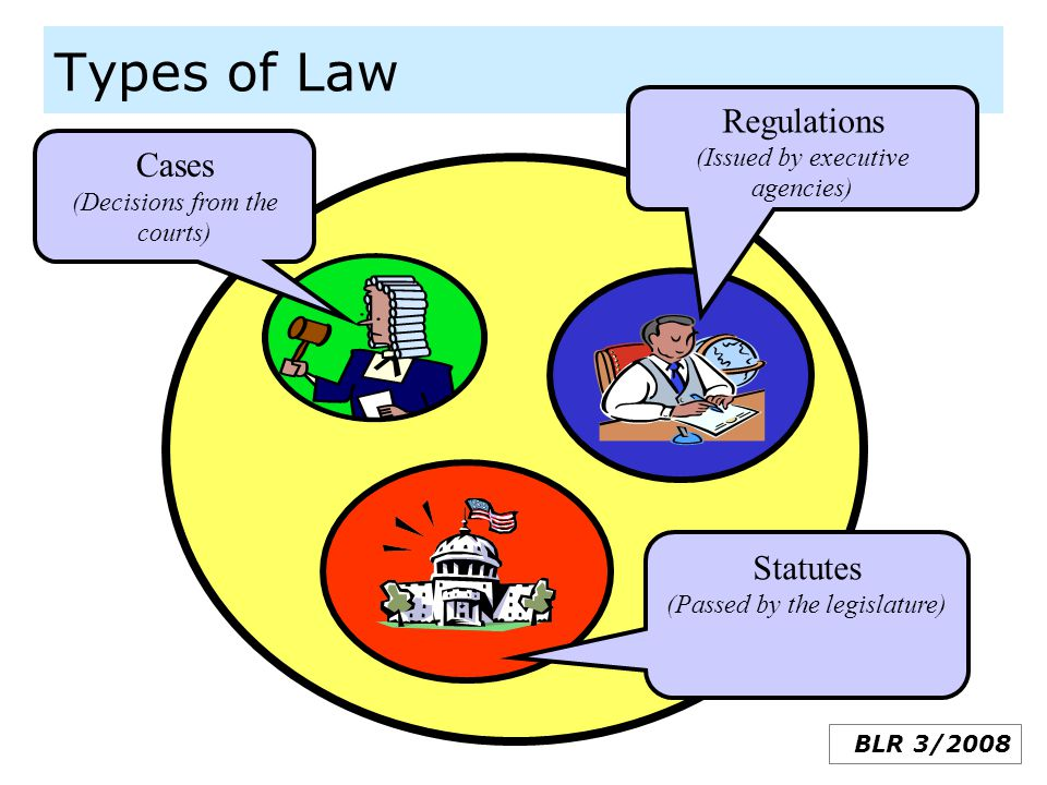 Types of Law Regulations (Issued by executive agencies)