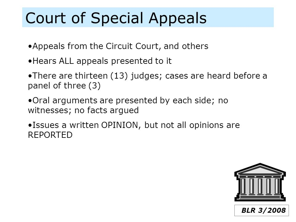 Court of Special Appeals