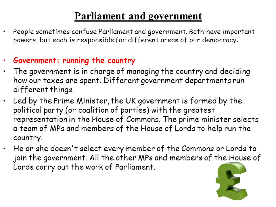 Parliament and government