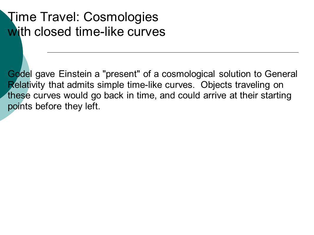 Time Travel: Cosmologies with closed time-like curves