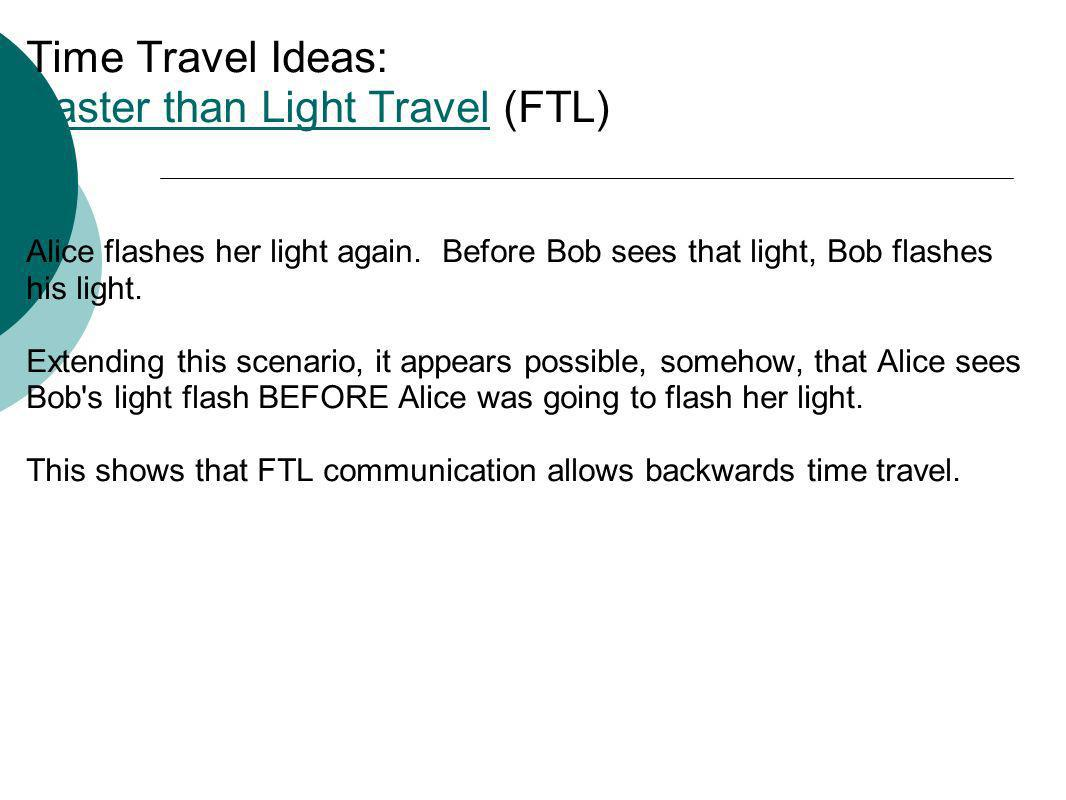 Time Travel Ideas: Faster than Light Travel (FTL)