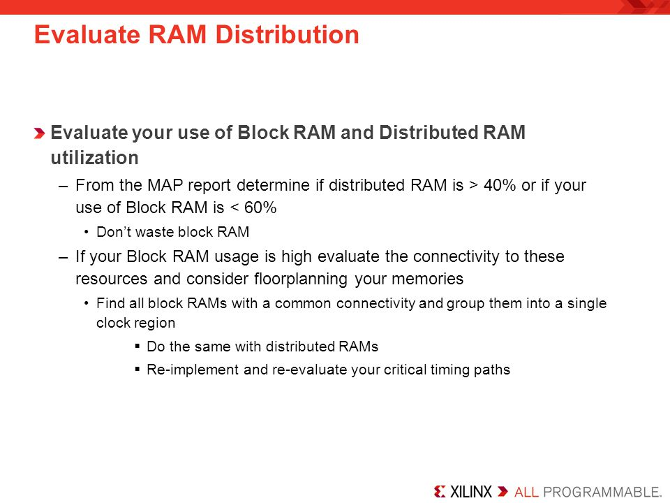 Evaluate RAM Distribution