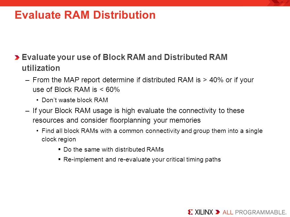 Evaluate RAM Distribution
