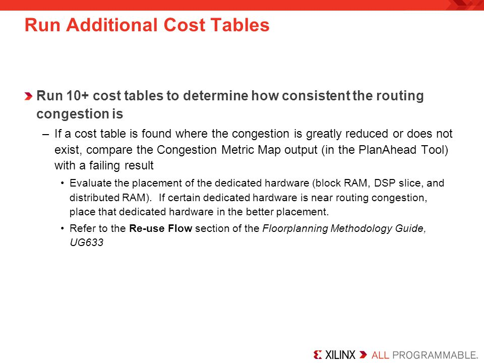 Run Additional Cost Tables