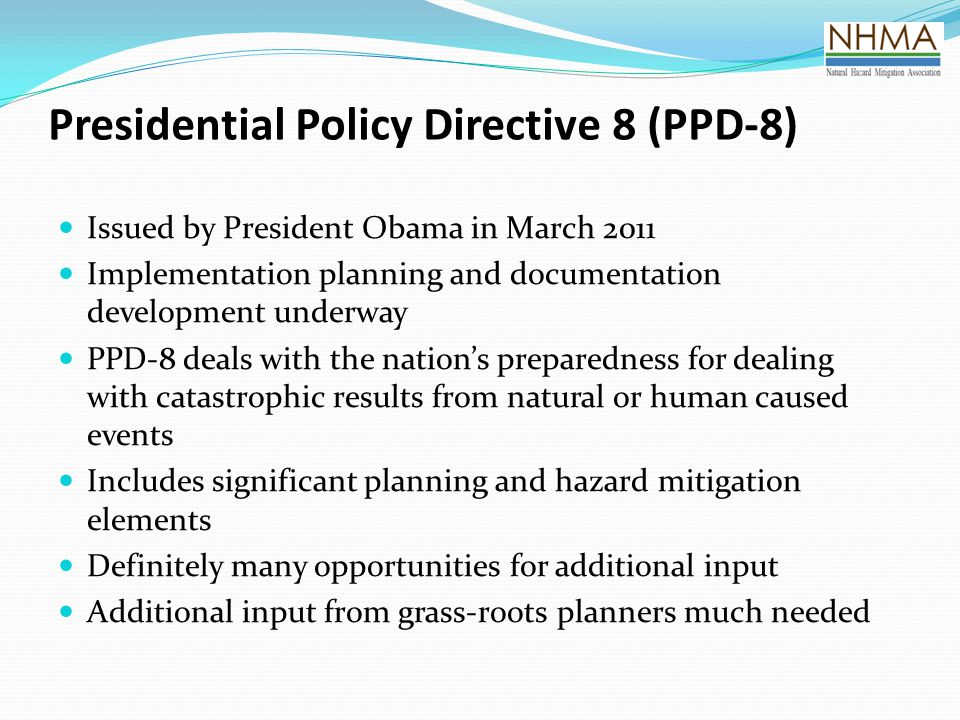 Presidential Policy Directive 8 (PPD-8)