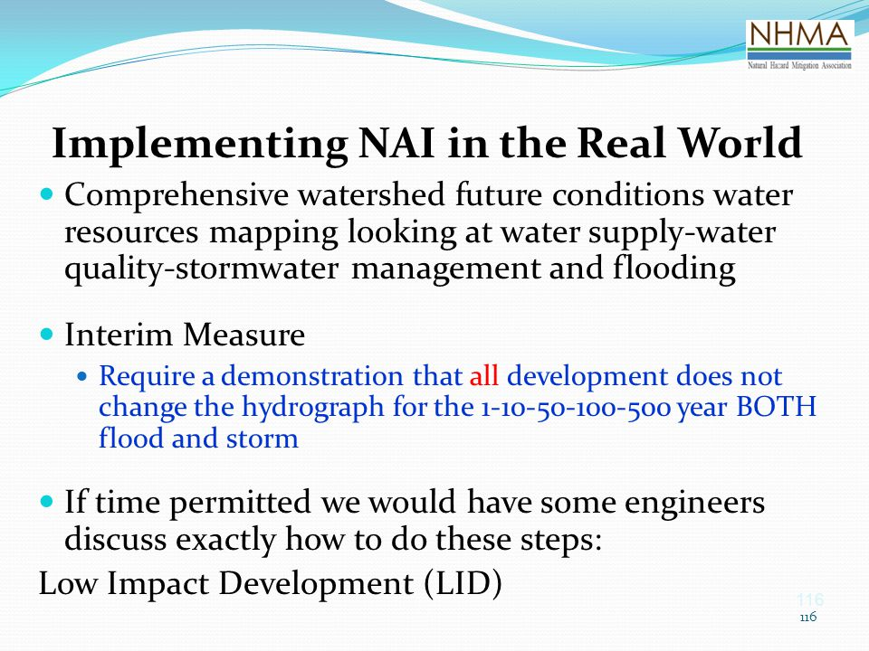 Implementing NAI in the Real World