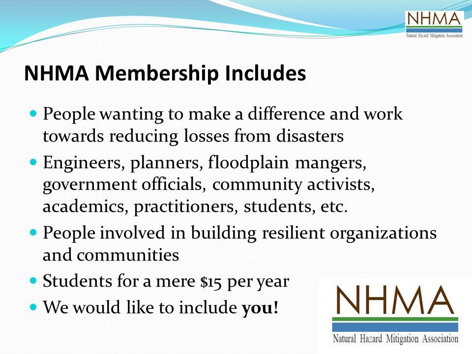 NHMA Membership Includes