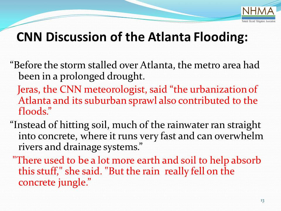 CNN Discussion of the Atlanta Flooding: