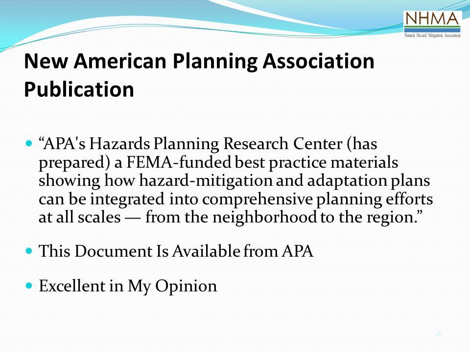 New American Planning Association Publication