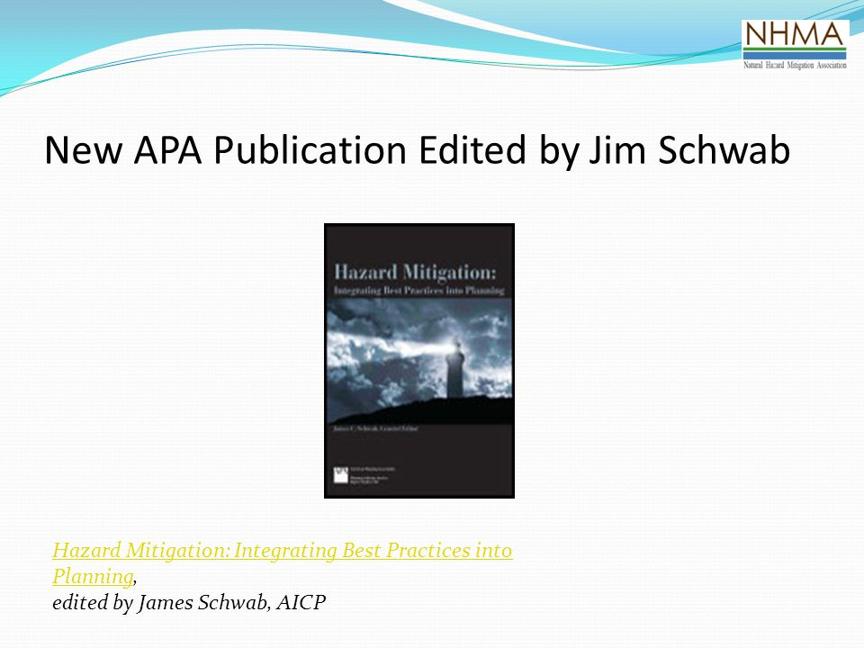 New APA Publication Edited by Jim Schwab