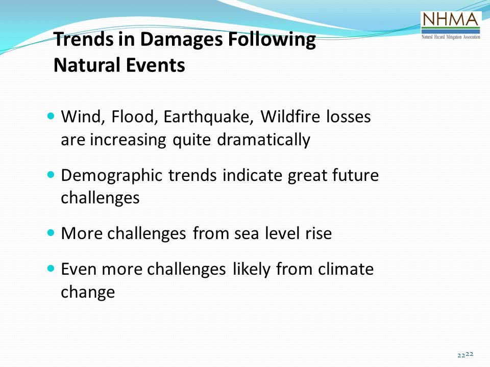 Trends in Damages Following Natural Events