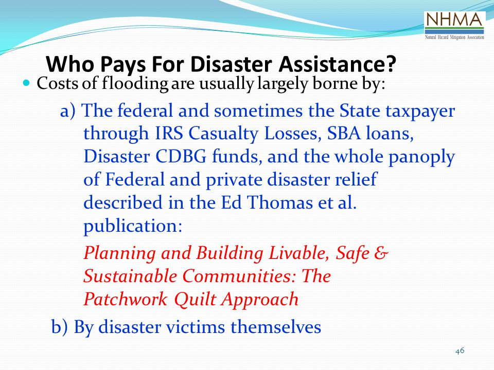 Who Pays For Disaster Assistance