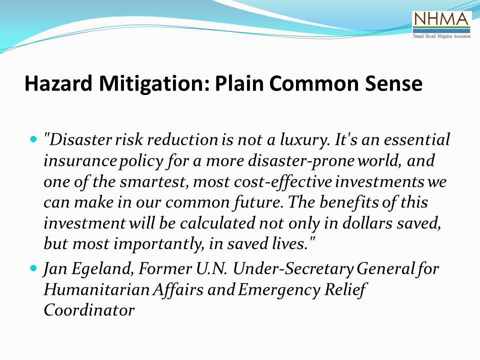 Hazard Mitigation: Plain Common Sense