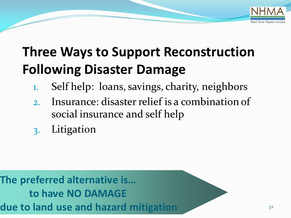 Three Ways to Support Reconstruction Following Disaster Damage