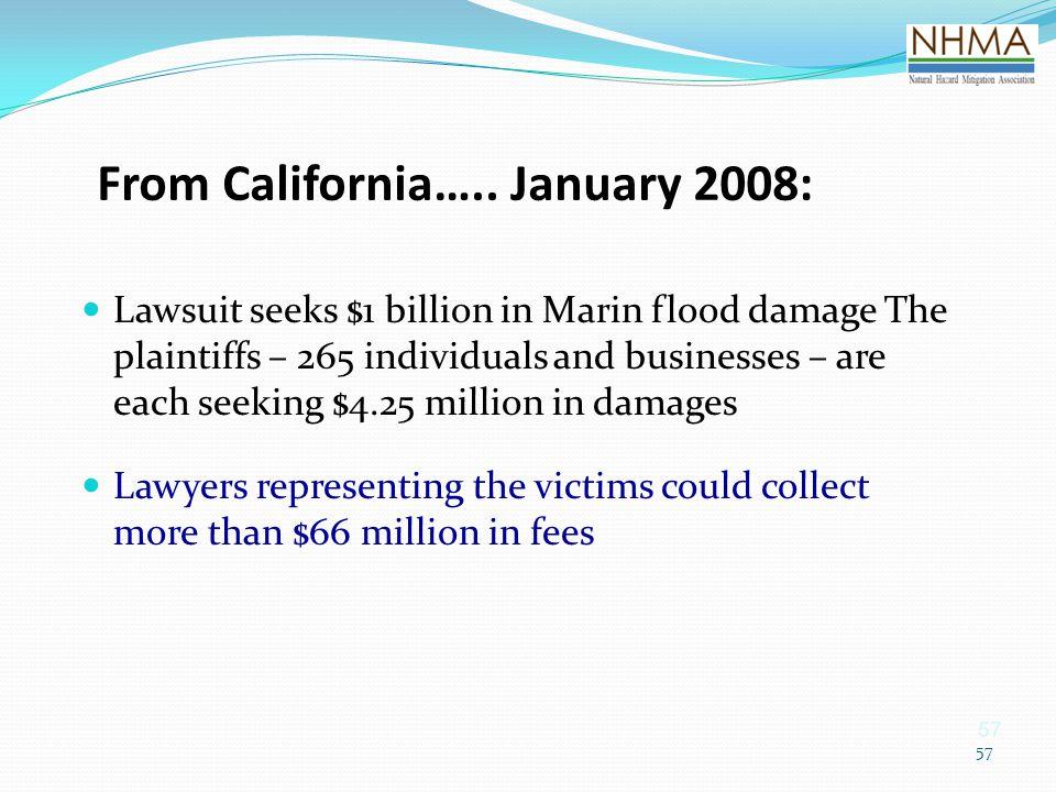 From California….. January 2008:
