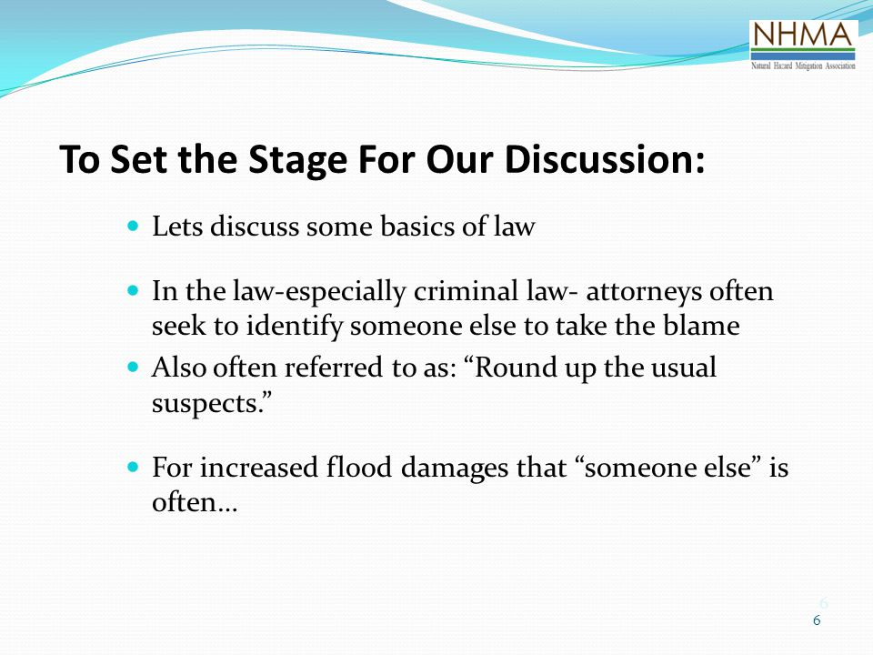 To Set the Stage For Our Discussion: