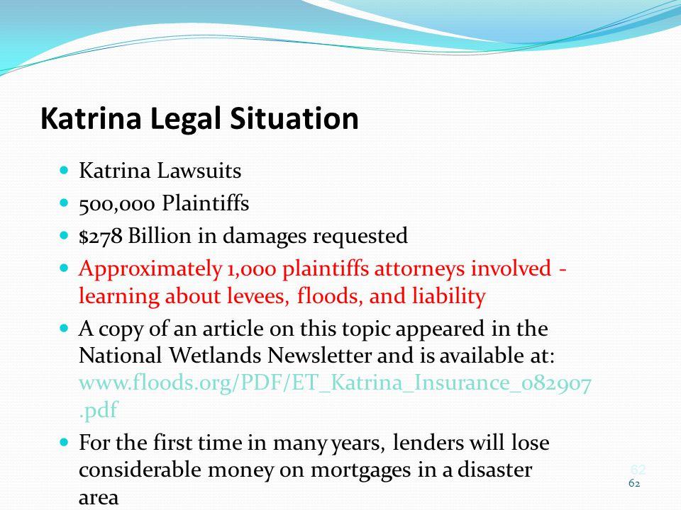 Katrina Legal Situation