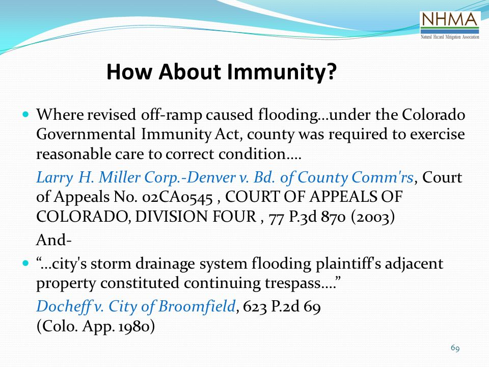 How About Immunity