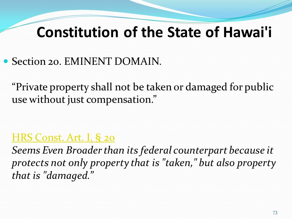 Constitution of the State of Hawai i