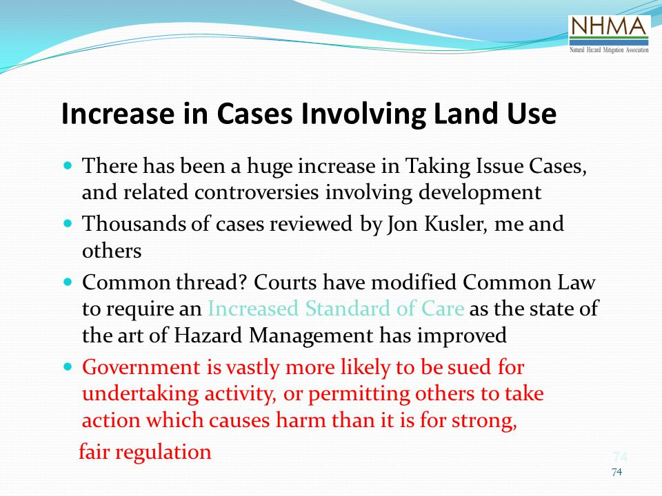 Increase in Cases Involving Land Use