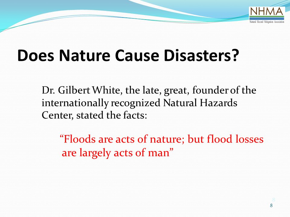 Does Nature Cause Disasters