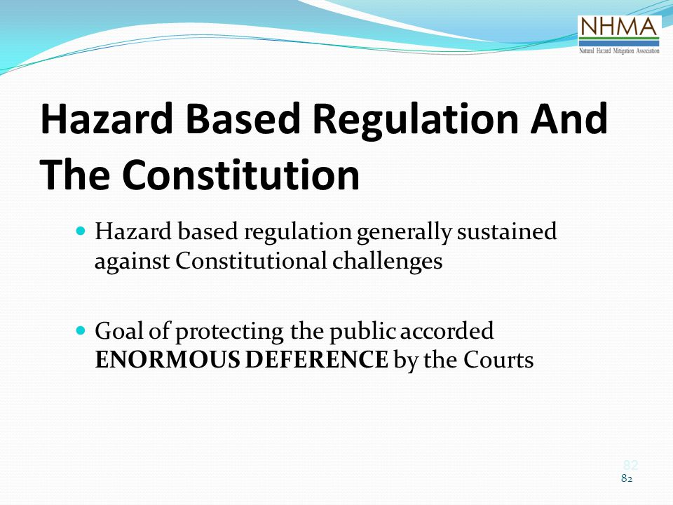 Hazard Based Regulation And The Constitution