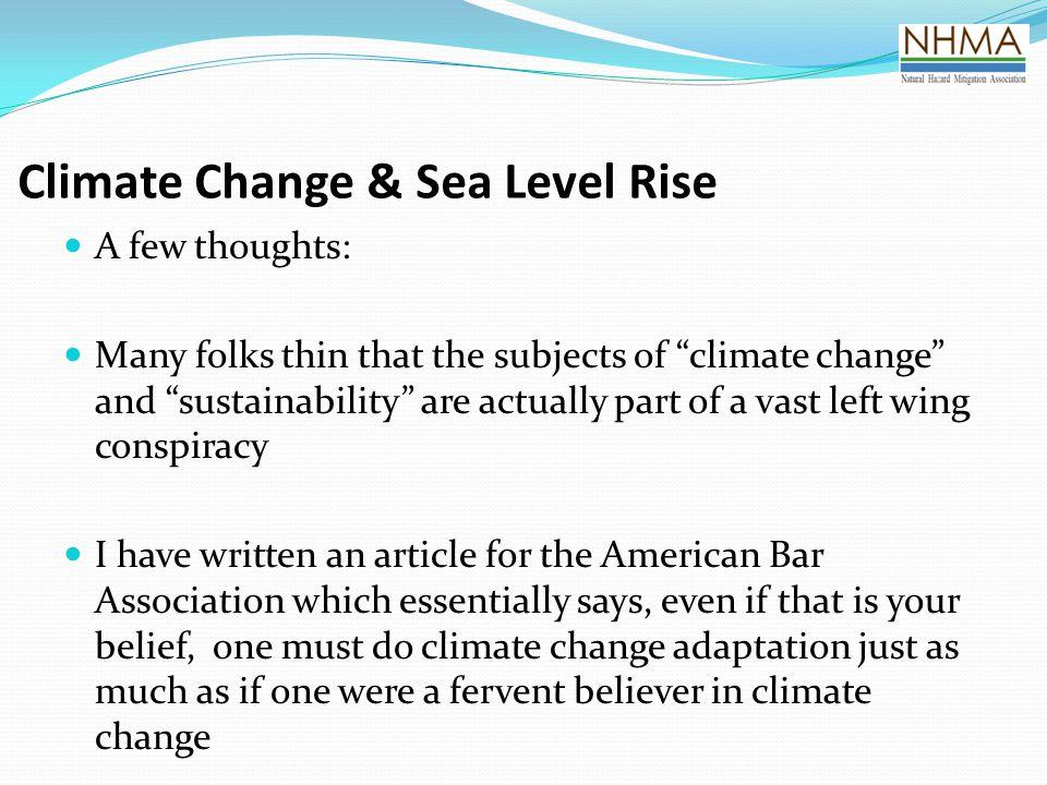 Climate Change & Sea Level Rise