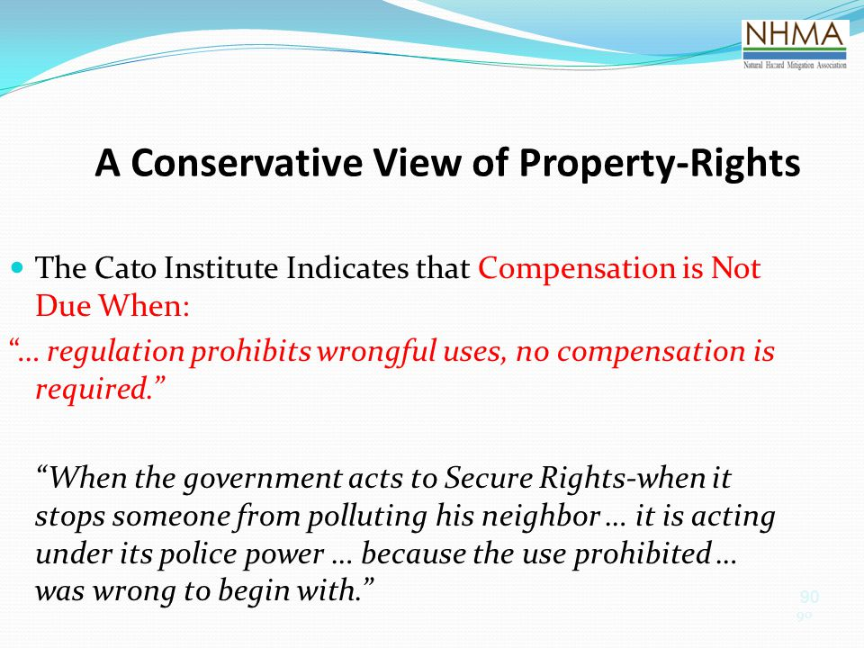 A Conservative View of Property-Rights