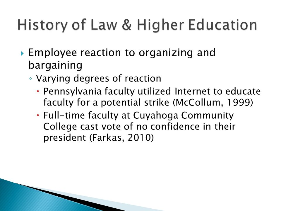 History of Law & Higher Education