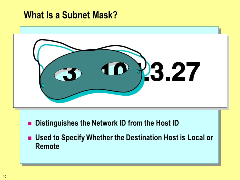 What Is a Subnet Mask Distinguishes the Network ID from the Host ID