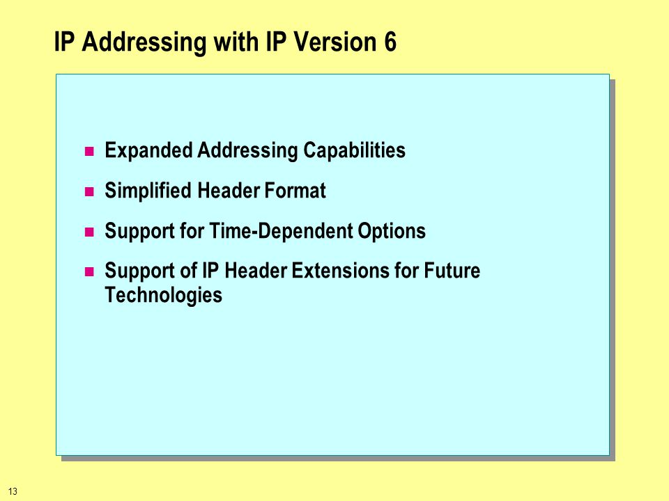 IP Addressing with IP Version 6