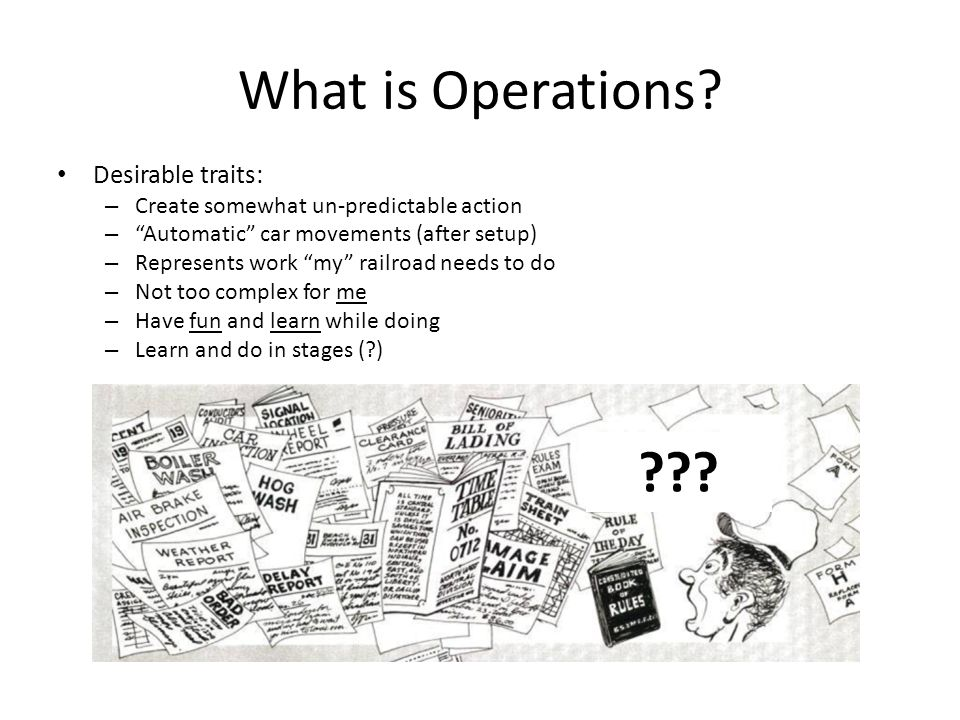 What is Operations Desirable traits: