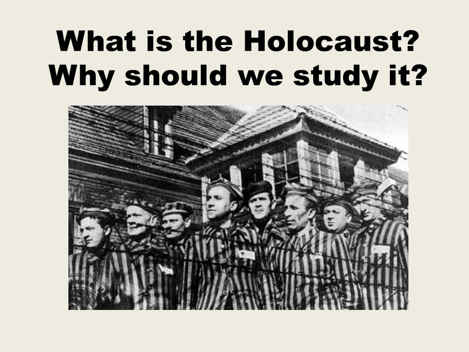 What is the Holocaust Why should we study it