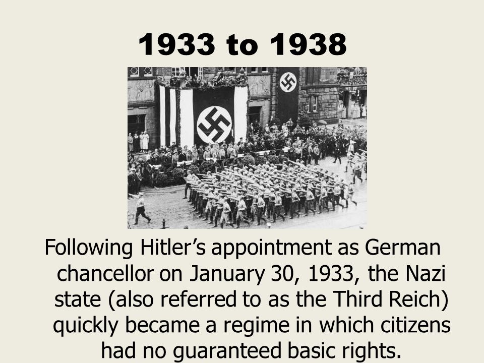 1933 to 1938